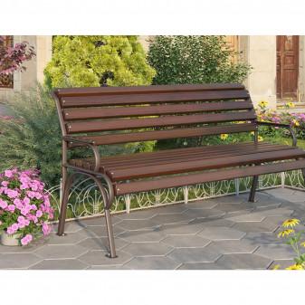 "Скамейка из дерева со спинкой ""Соната"""