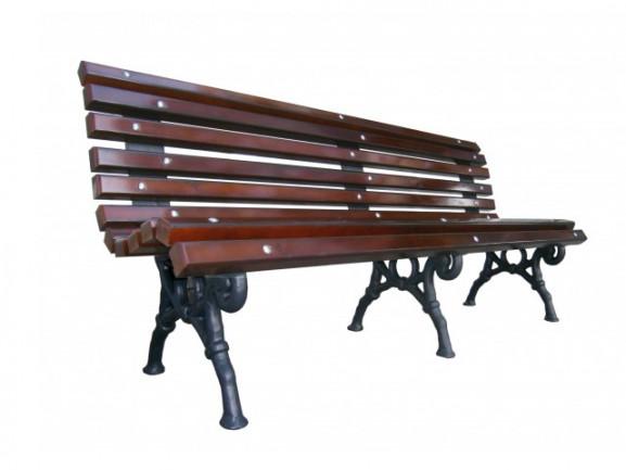 Скамейка Романтика с деревянным настилом