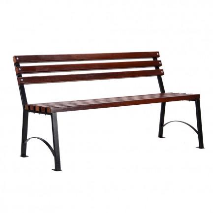 Скамейка з дерев'яними рейками Веста подовжена
