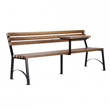 Скамейка з дерева Мрія з столиком, коротка
